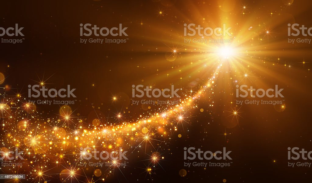 Star Sparkling Christmas stock photo