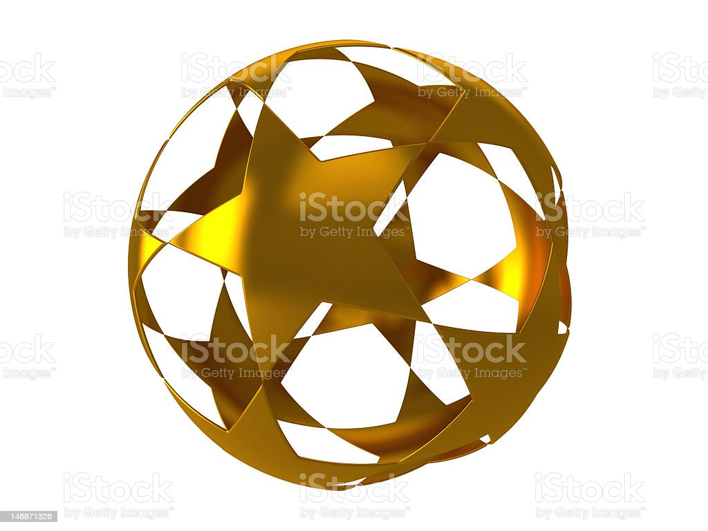 Star sphere on white background