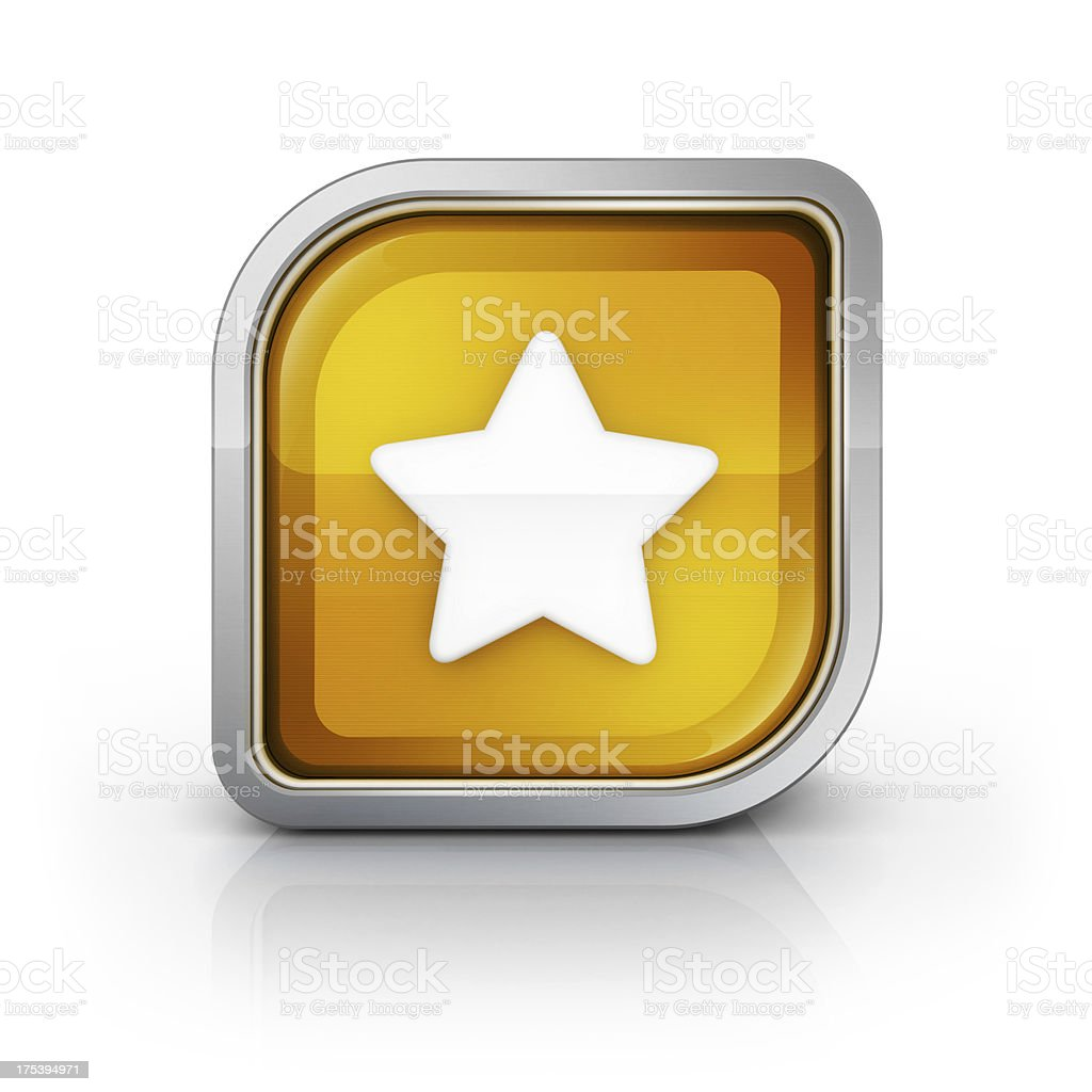 Star square icon royalty-free stock photo