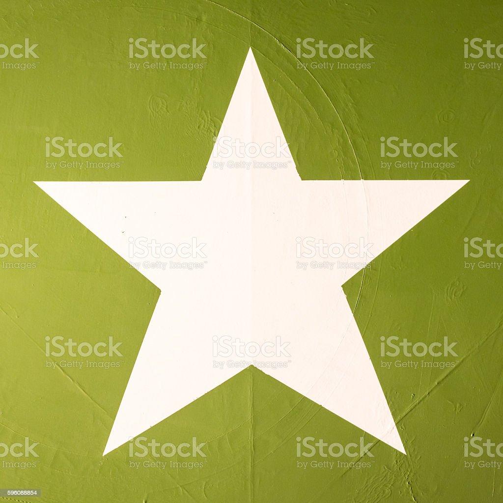 Star symbol on an old warplane royalty-free stock photo