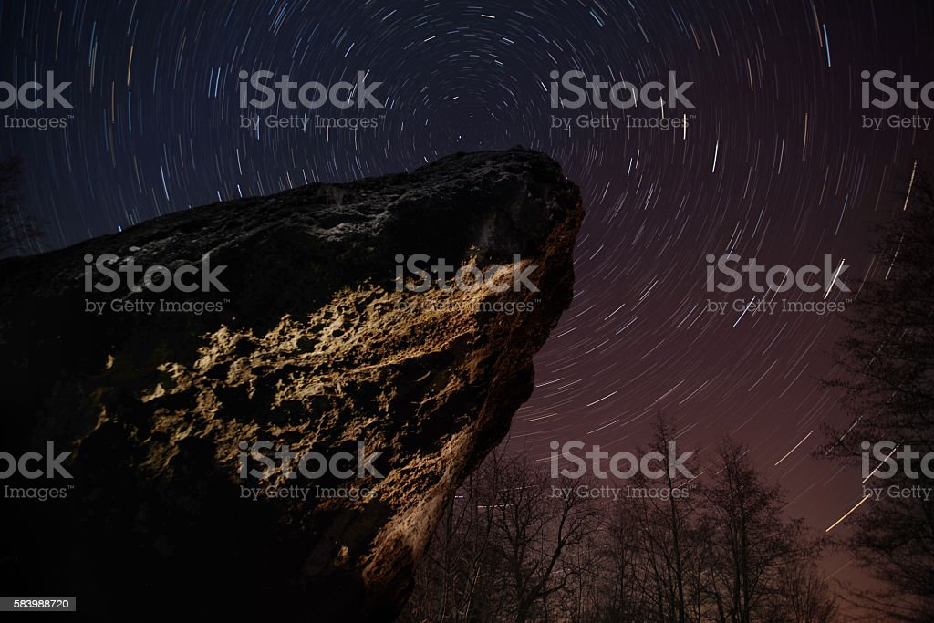 Star Trail stock photo