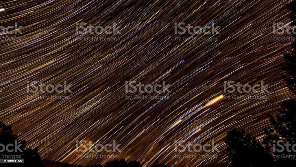 Star Trails in Escalante Utah stock photo