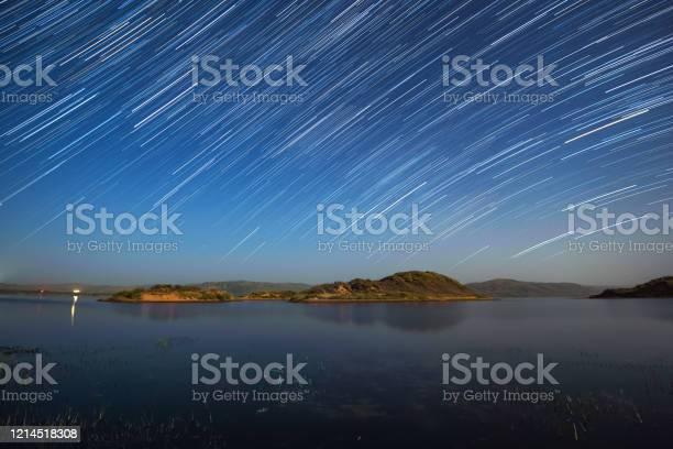 Photo of Star trails over Duolun Lake, Inner Mongolia, China