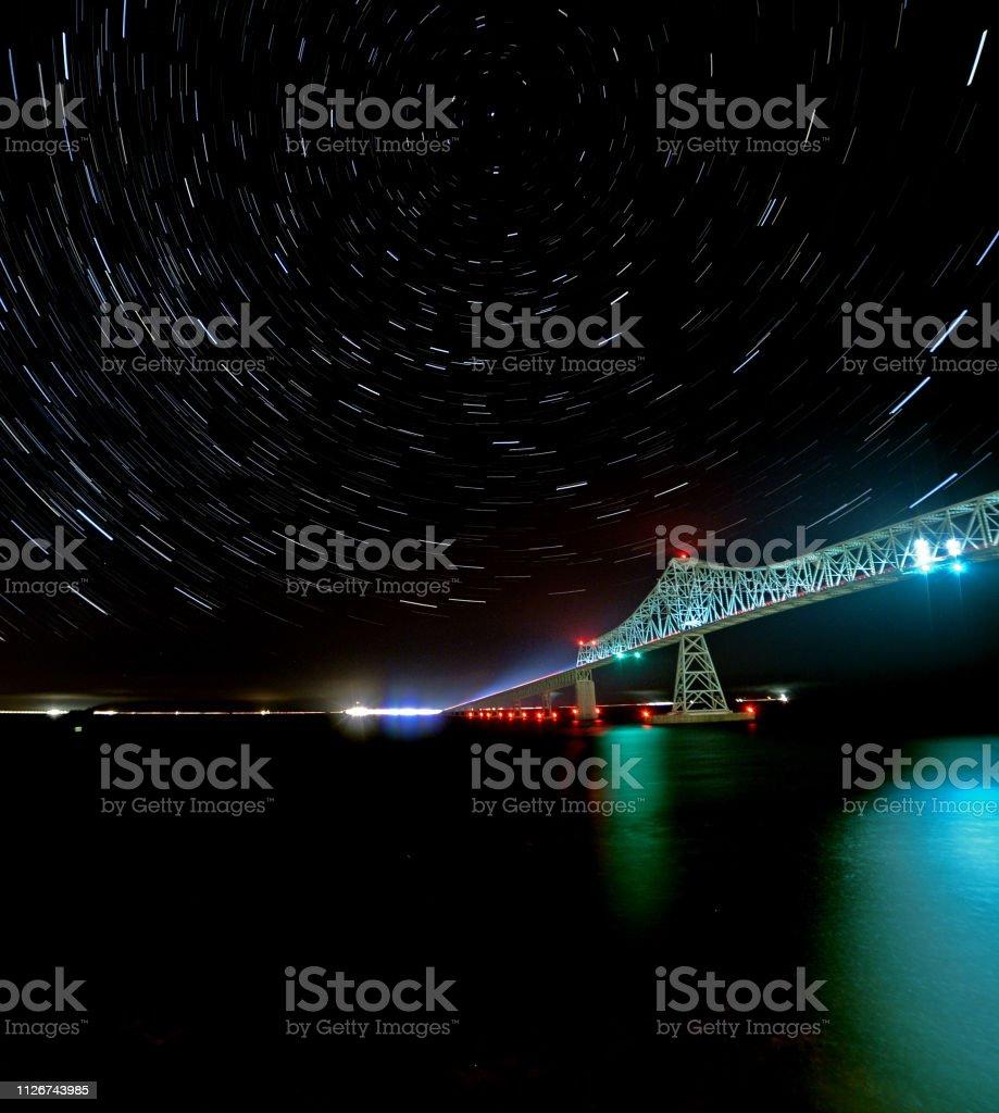Star Trails Stock Photo