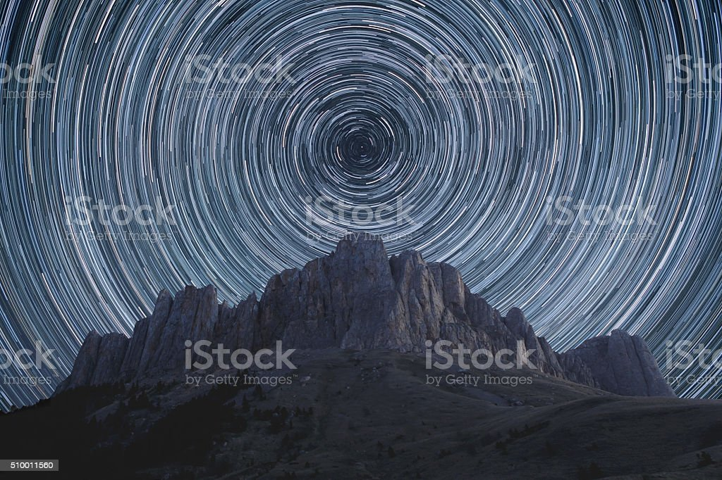 Star trails. stock photo