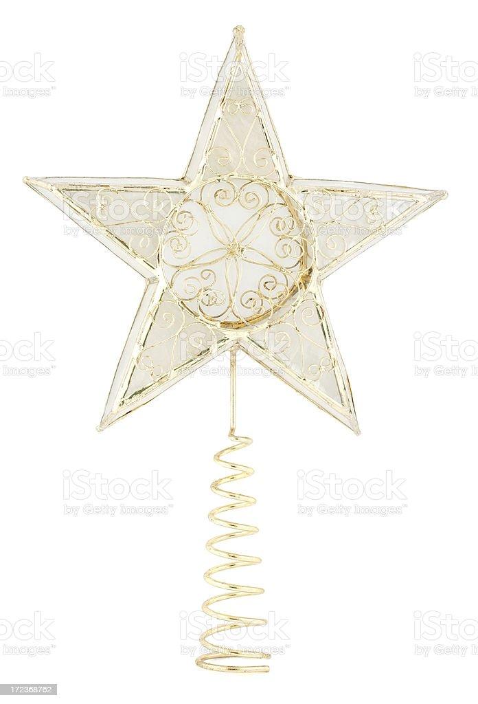 Star Tree Topper royalty-free stock photo