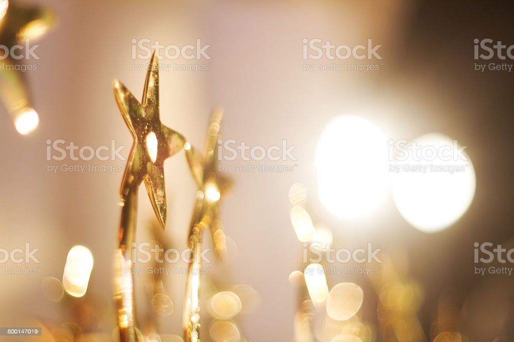 Star Trophies stock photo