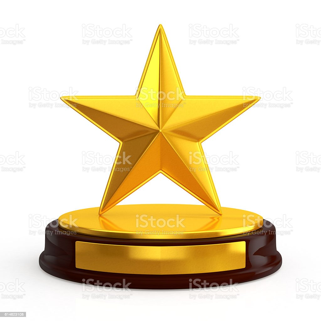 star trophy stock photo
