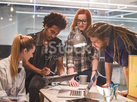 Star Up Team Working On A New Ideas In Office Stock Photo & More Pictures of 2015