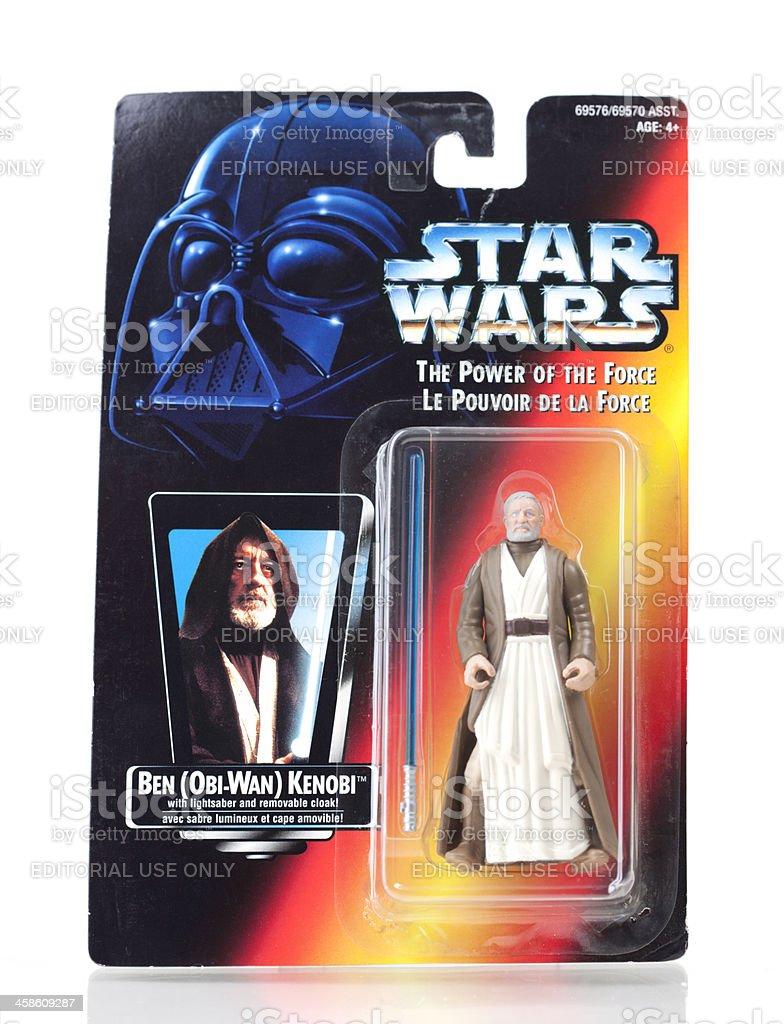 Star Wars Action Figure - Obi-Wan Kenobi royalty-free stock photo