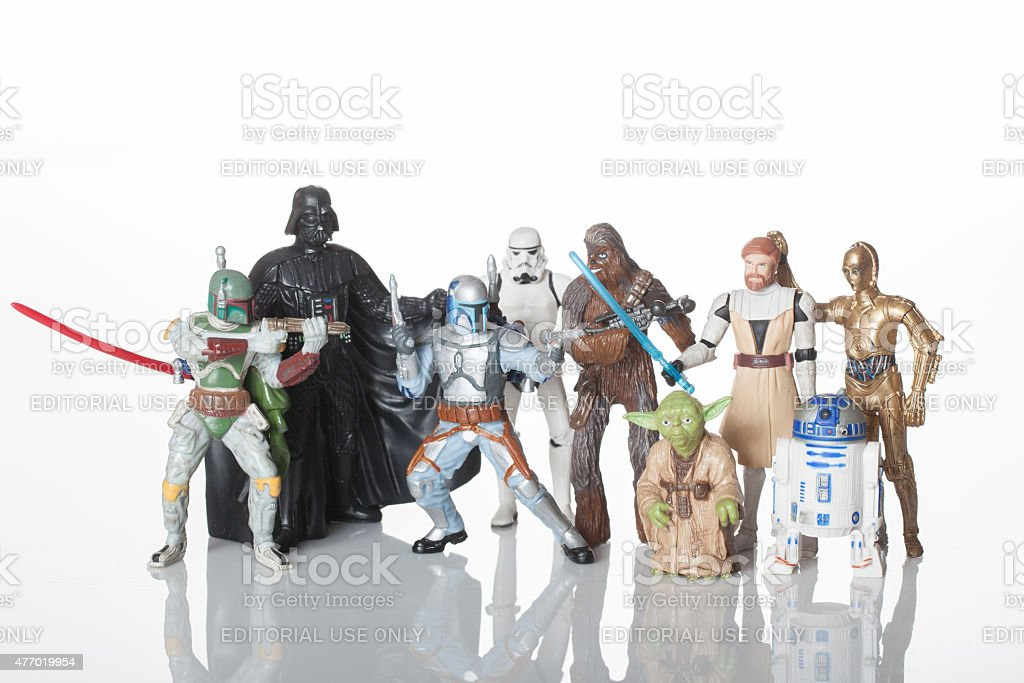 Star Wars characters stock photo
