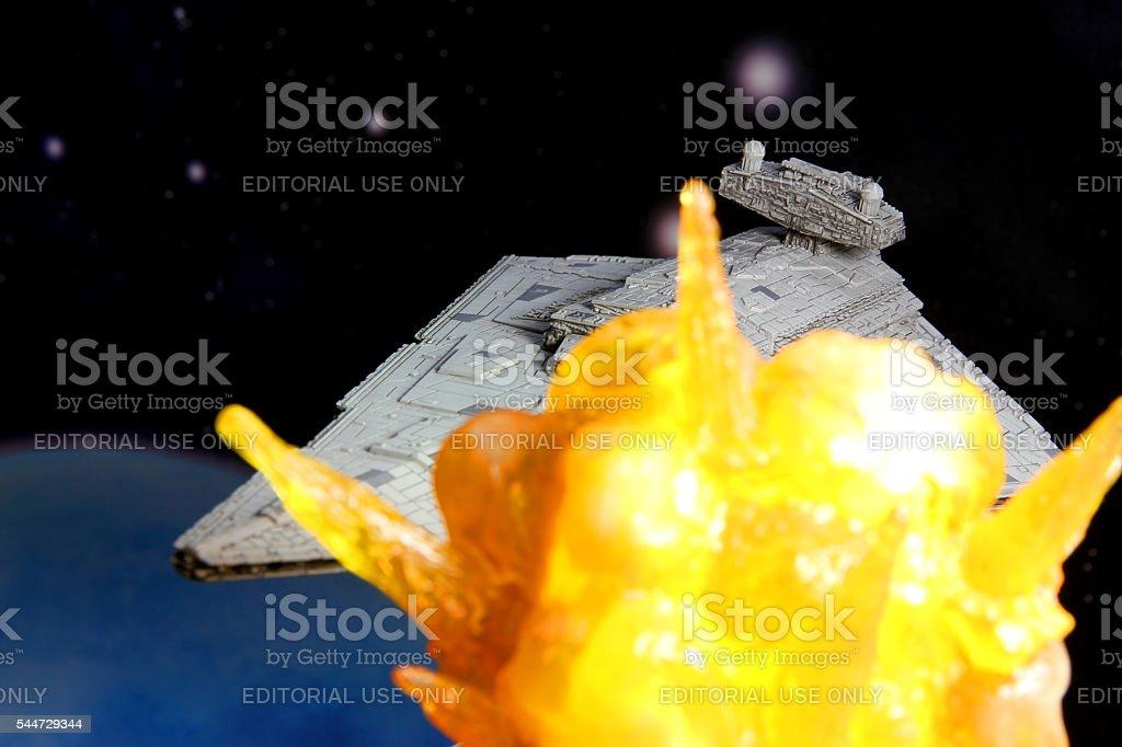 Star Wars Explosion stock photo