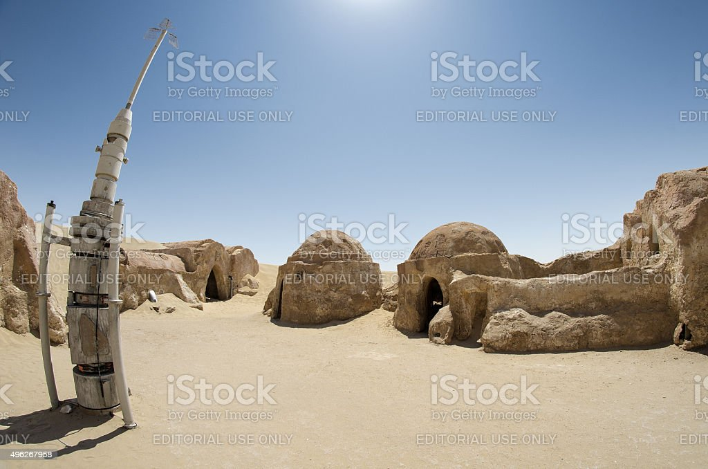 Star Wars IV Movie Set stock photo