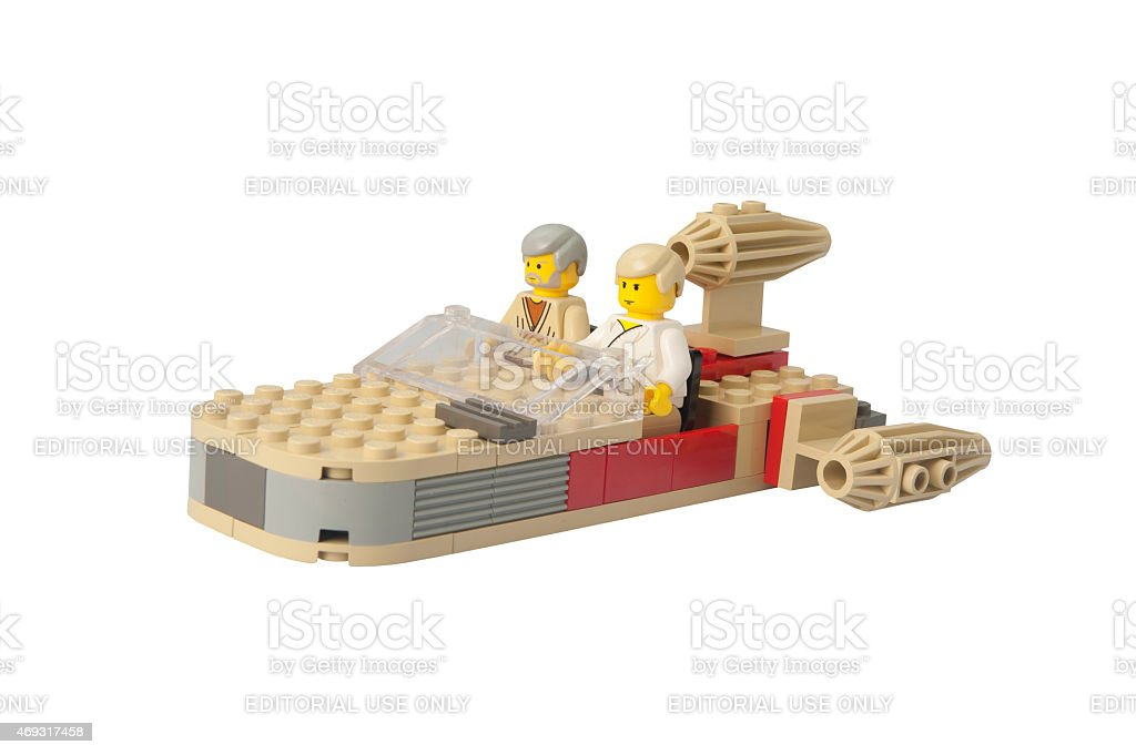 Star Wars Landspeeder Lego Kit stock photo