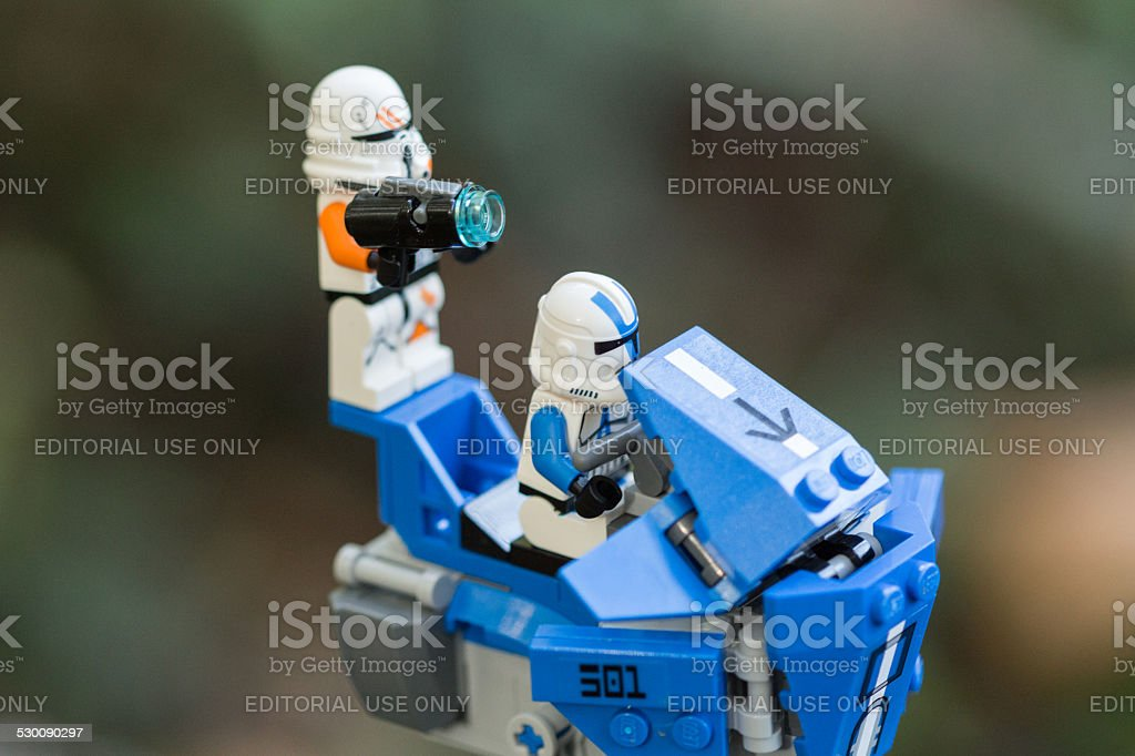 Star Wars - Lego Walker & Storm Troopers stock photo