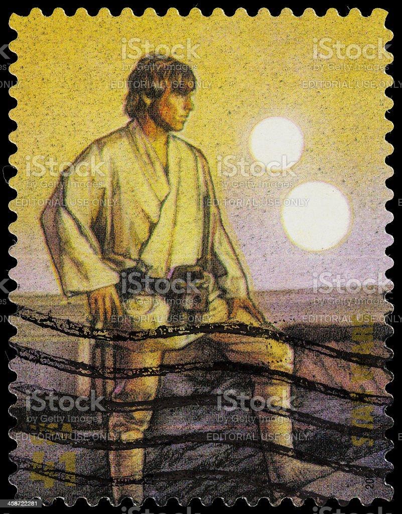 USA Star Wars Luke Skywalker postage stamp stock photo