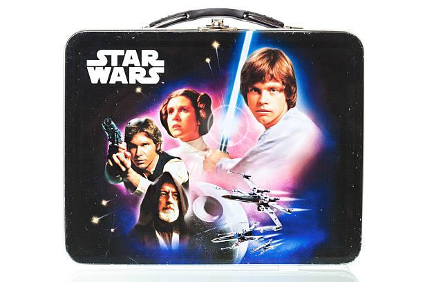 """star wars caixa de almoço com reflexão, isolada no branco """",star wars merendeira com reflexão - star wars - fotografias e filmes do acervo"""