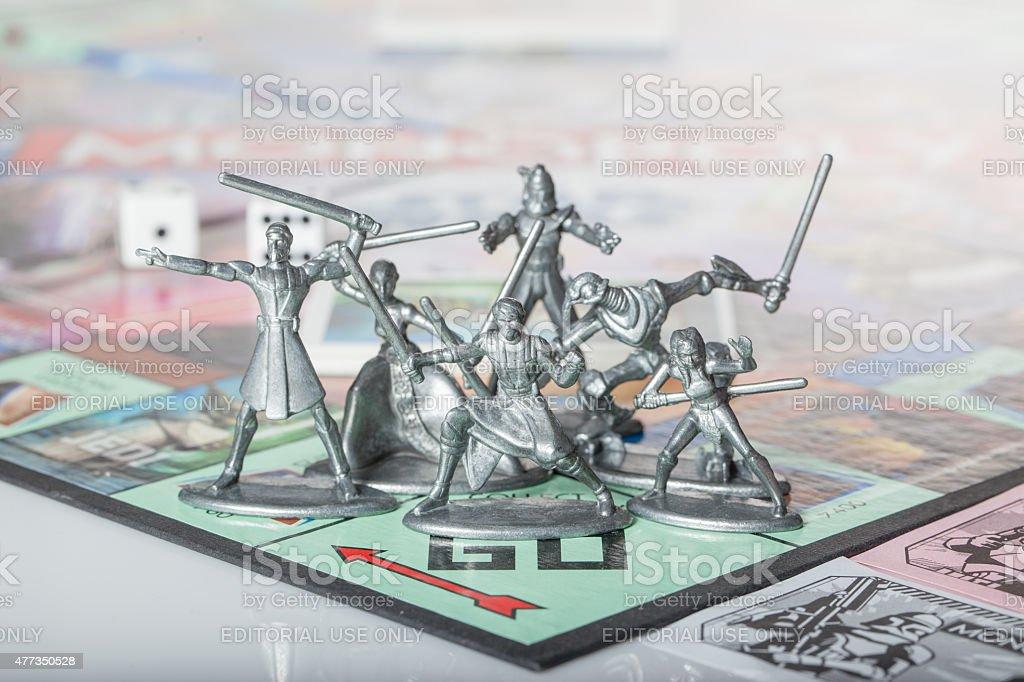 Star Wars Monopoly figures stock photo