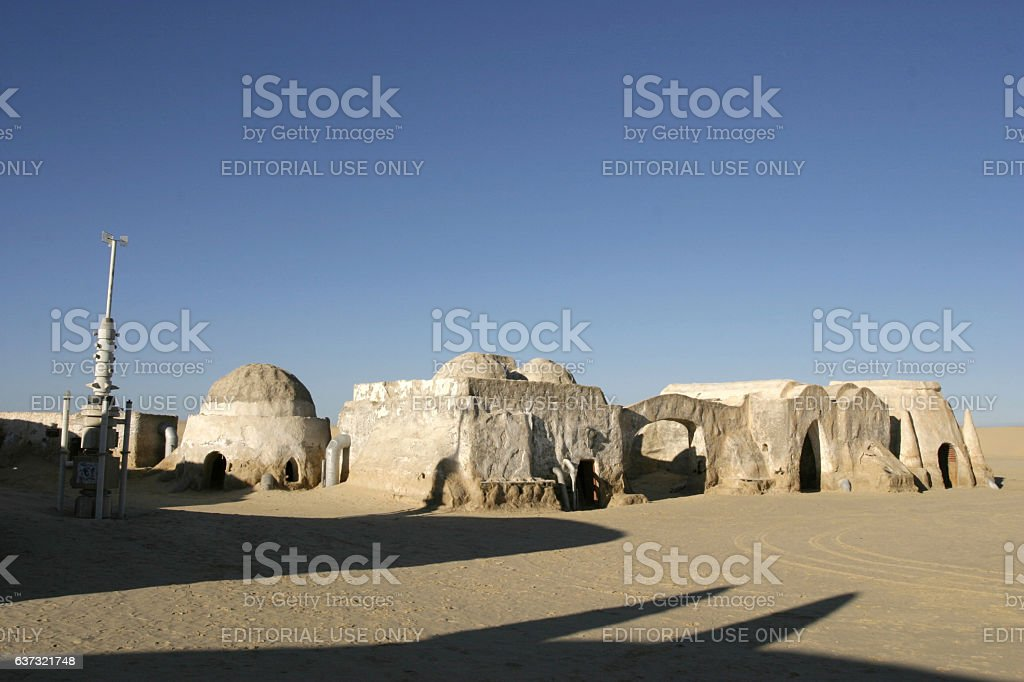 Star Wars scenery Ong Jemel near Nefta Tunisia stock photo