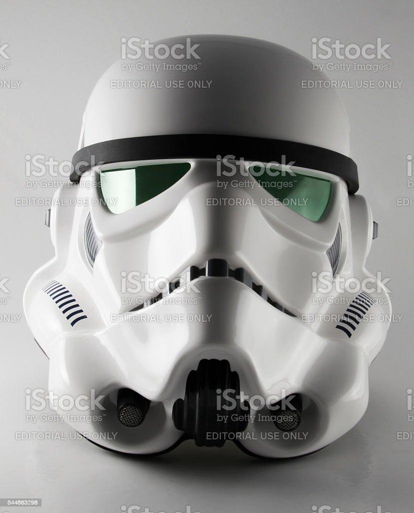 Star Wars Stormtrooper helmet stock photo