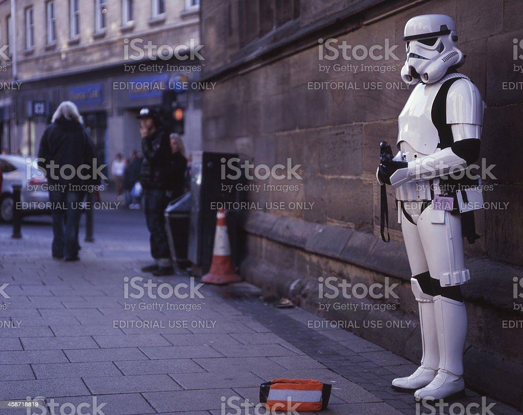 Star Wars Stormtrooper in York, United Kingdom - November 2011 stock photo