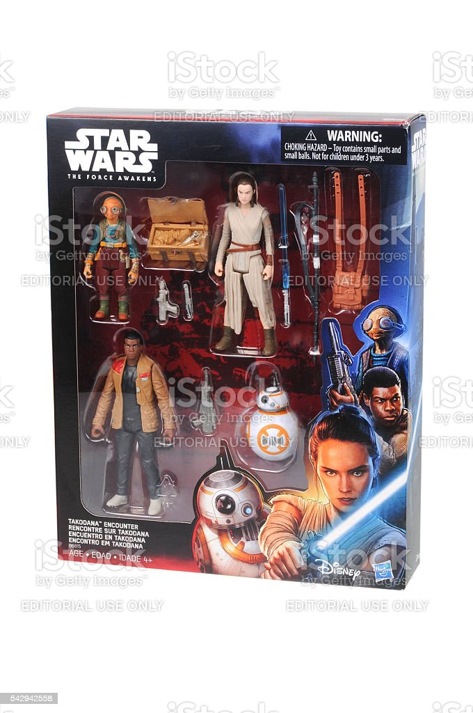 Star Wars Takodana Action Figures stock photo