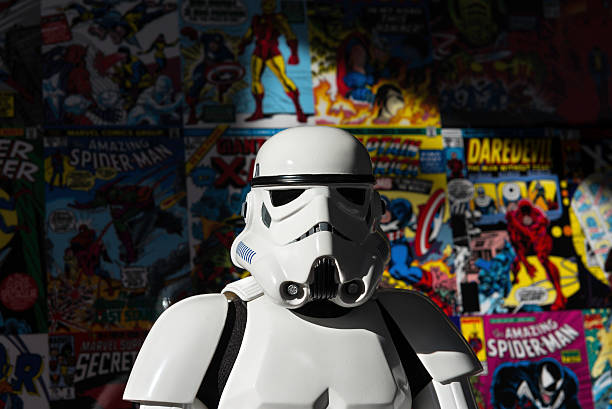 star wars white imperial stormtrooper action figure - darth vader 個照片及圖片檔