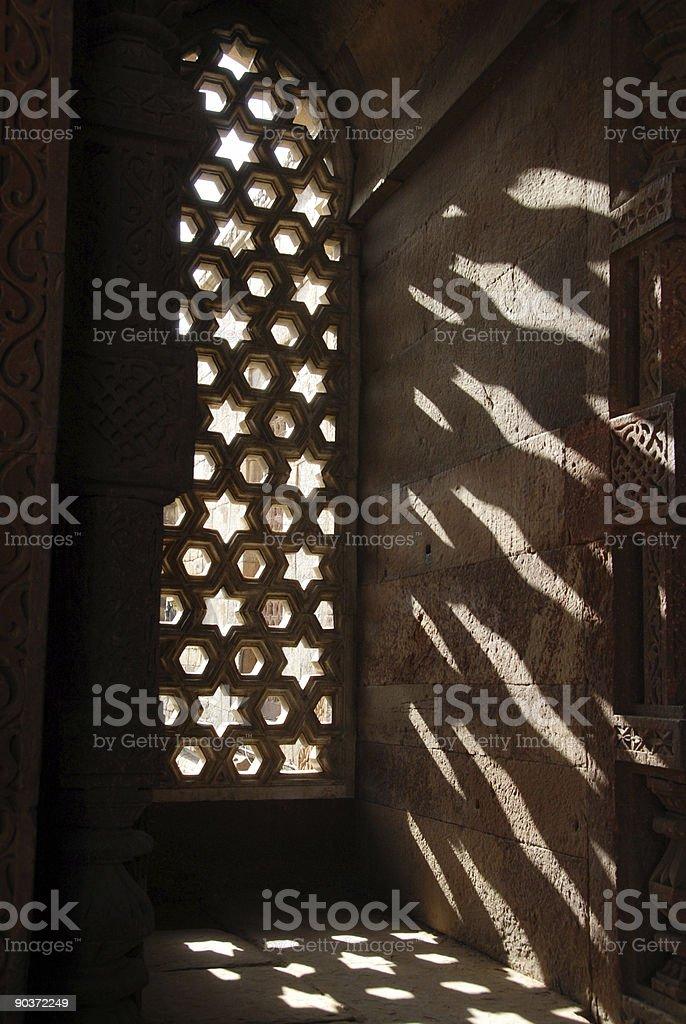Star window India stock photo