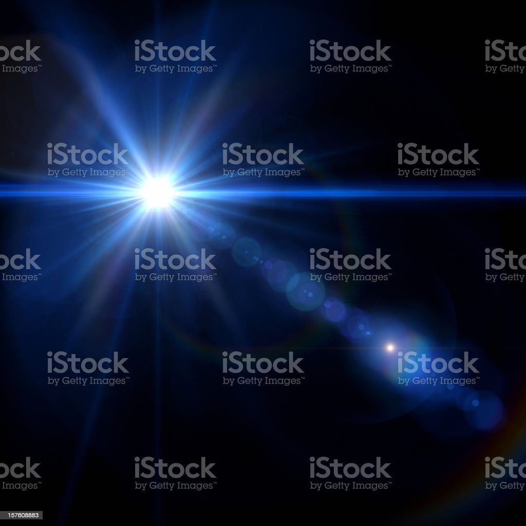 Star With Lens Flare royalty-free stock photo