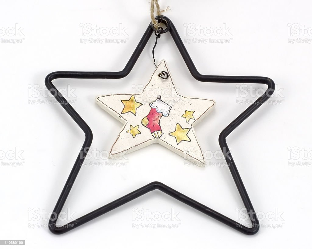 Star Within a StarChristmas Ornament royalty-free stock photo