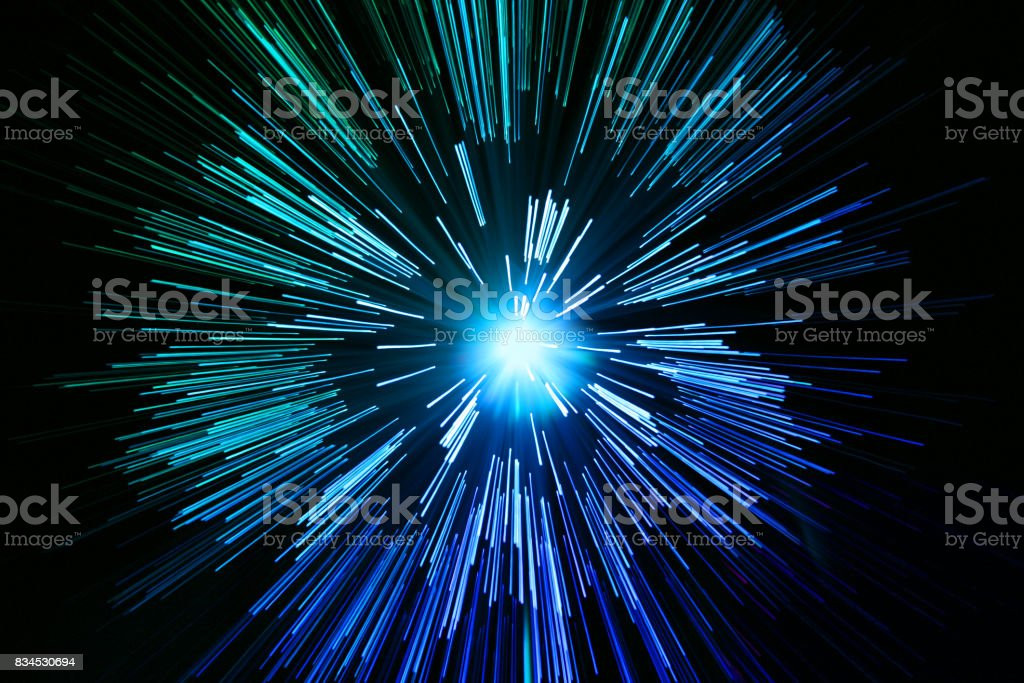 star zoom space travel background