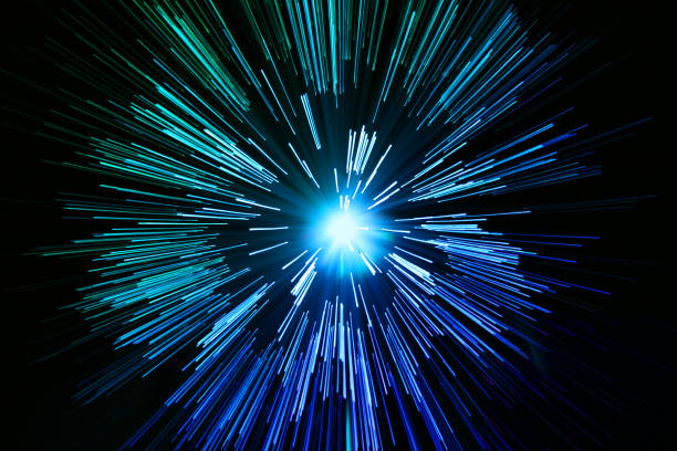 star zoom space travel background stock photo