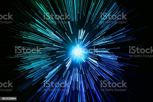 Photo of star zoom space travel background