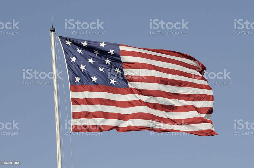 US 15 Star/15 Stripe Flag stock photo