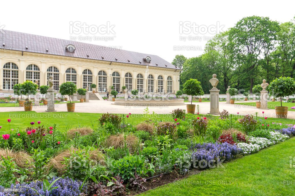 Stara Oraneria, an old orangery in Lazienki Park in Warsaw. stock photo