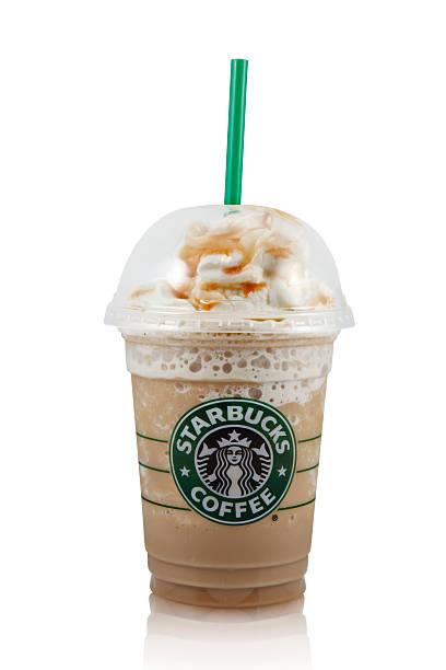 Starbucks Caramel Frappuccino stock photo