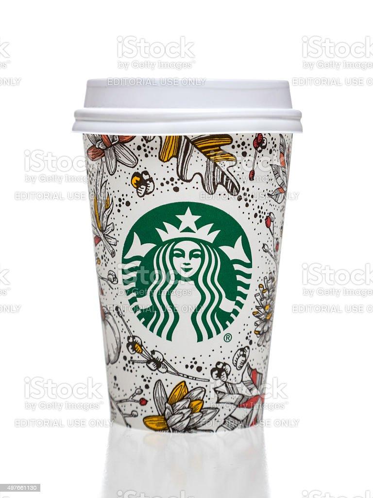 Starbucks Coffee Cup Mit Herbst Dekorative Motive Stockfoto Und Mehr