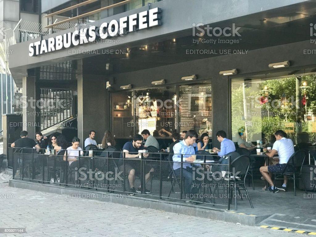 Starbucks Coffee House in Kabatas District stock photo