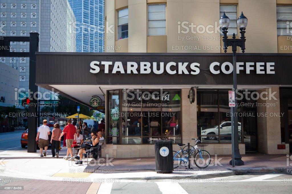 Starbucks Coffee in Miami Downtown royalty-free stock photo