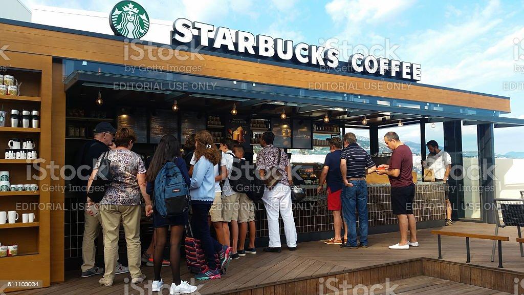 Starbucks Coffee, in Monte-Carlo, Monaco stock photo