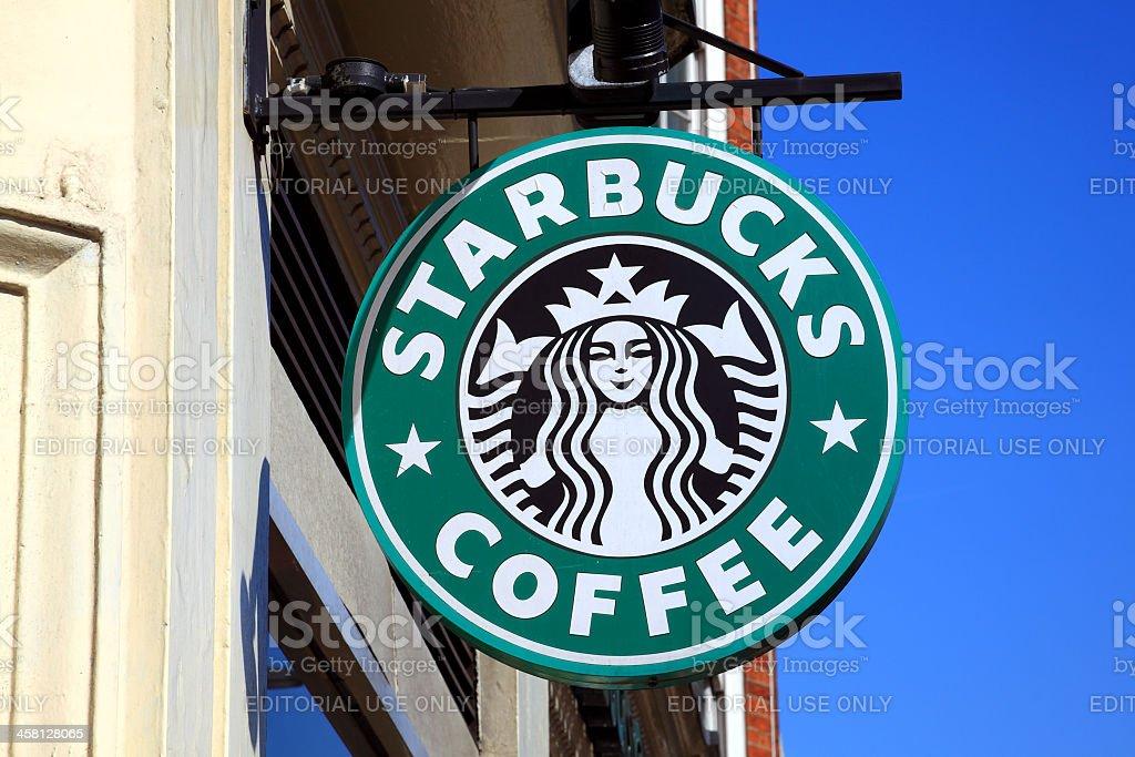 Starbucks Coffee Logo Sign royalty-free stock photo