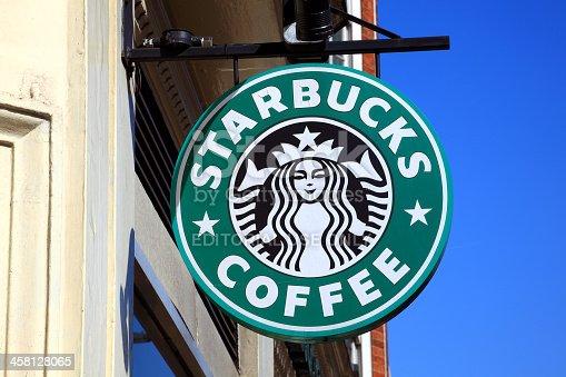 istock Starbucks Coffee Logo Sign 458128065