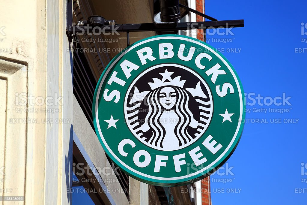Starbucks Coffee Logo Sign stock photo