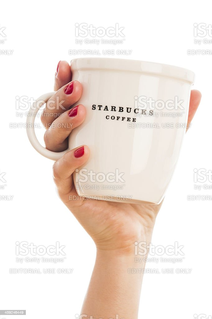 Starbucks coffee mug royalty-free stock photo