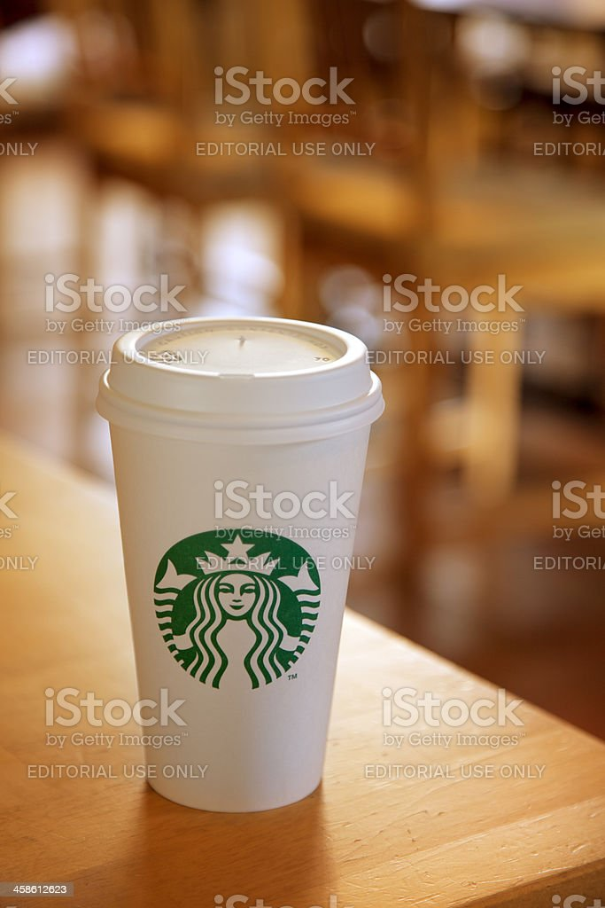 Starbucks Coffee on a Table stock photo
