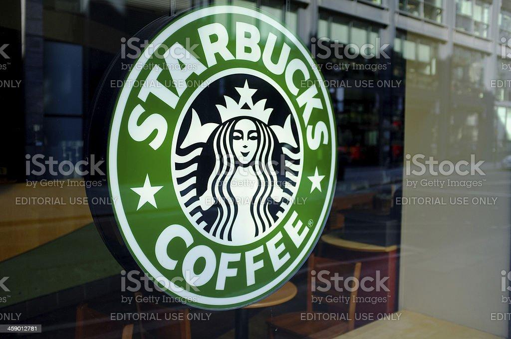 Starbucks Coffee sign royalty-free stock photo