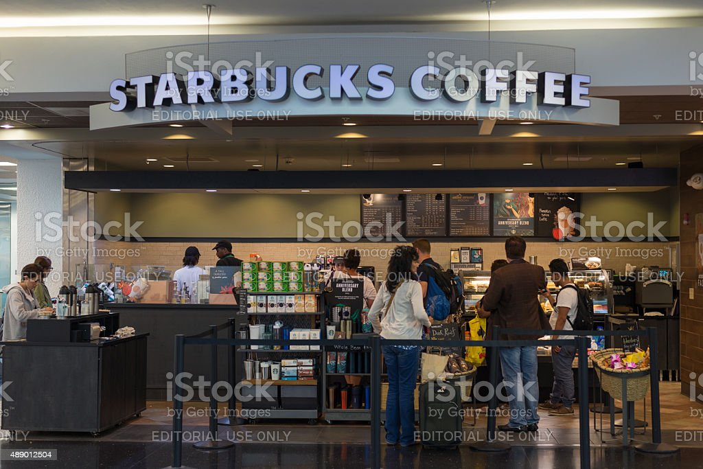 Starbucks Coffee store at Miami International Airport stock photo