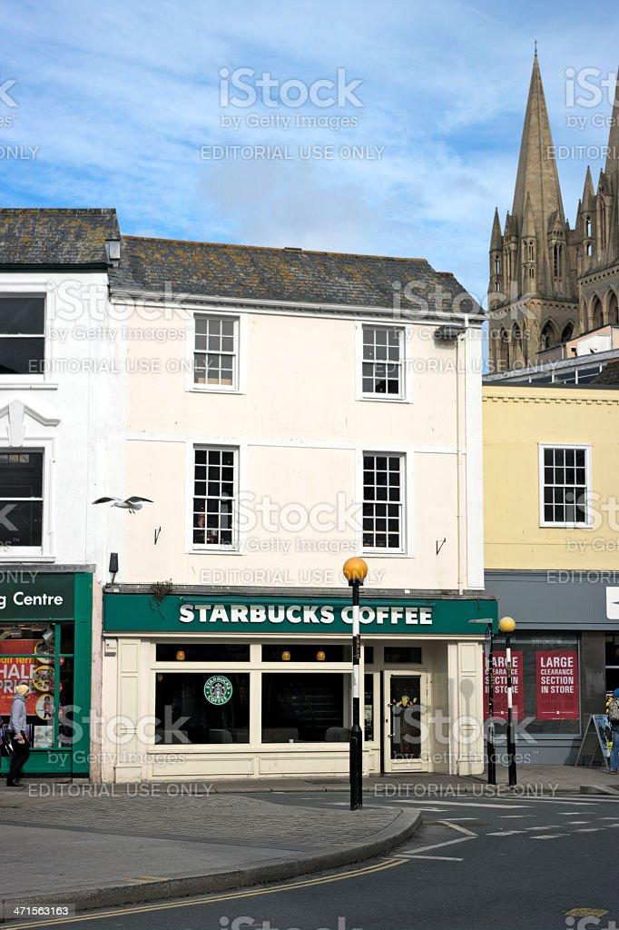 Starbucks Coffee Store Truro Cornwall UK stock photo