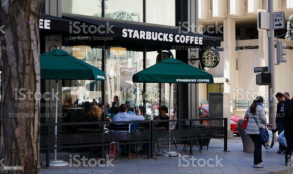 Starbucks, Denver stock photo