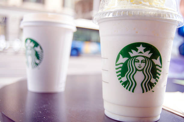 Starbucks drinks stock photo